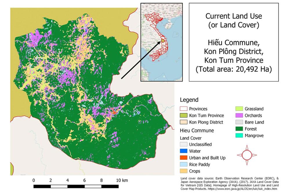 Map 1. Current land use in Hiếu Commune